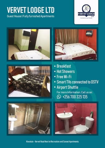 Vervet lodge and fully furnished apartments.