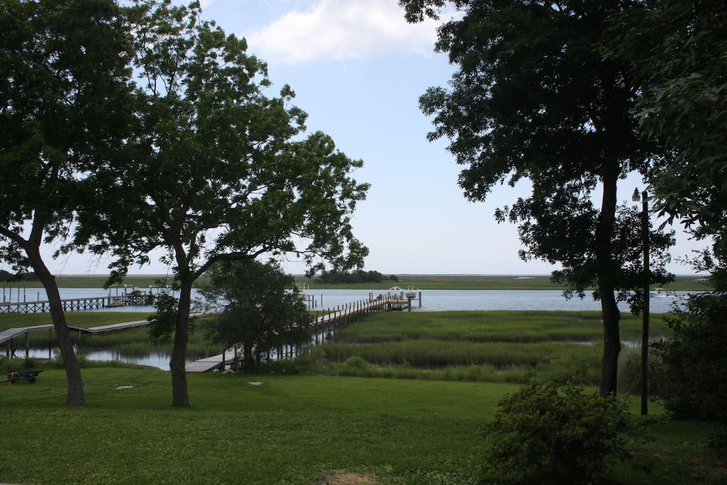 Gorgeous view of the Rich Inlet from the back porch.