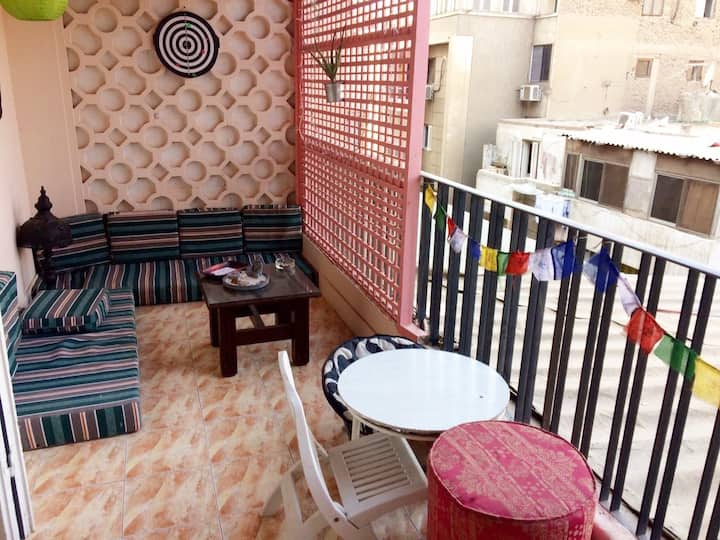 Double room in cozy appartment in Zamalek, Cairo