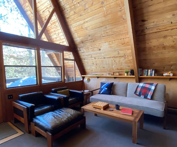 New! Mid-Century Modern A-frame cabin by the lake