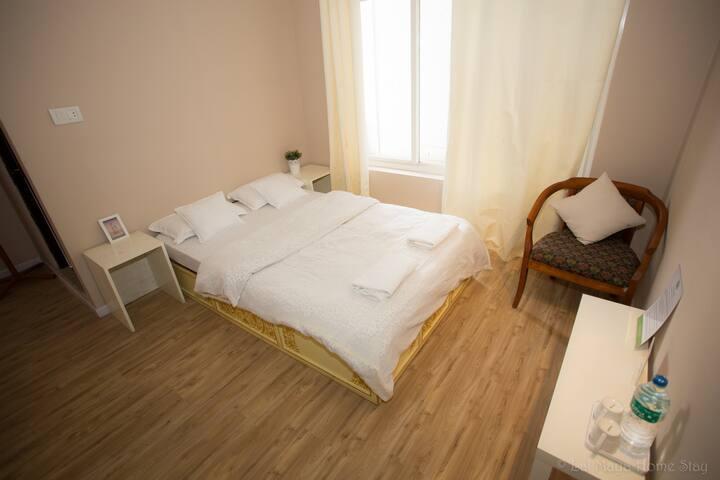 White Tara Room, private with bathroom, Swayambhu