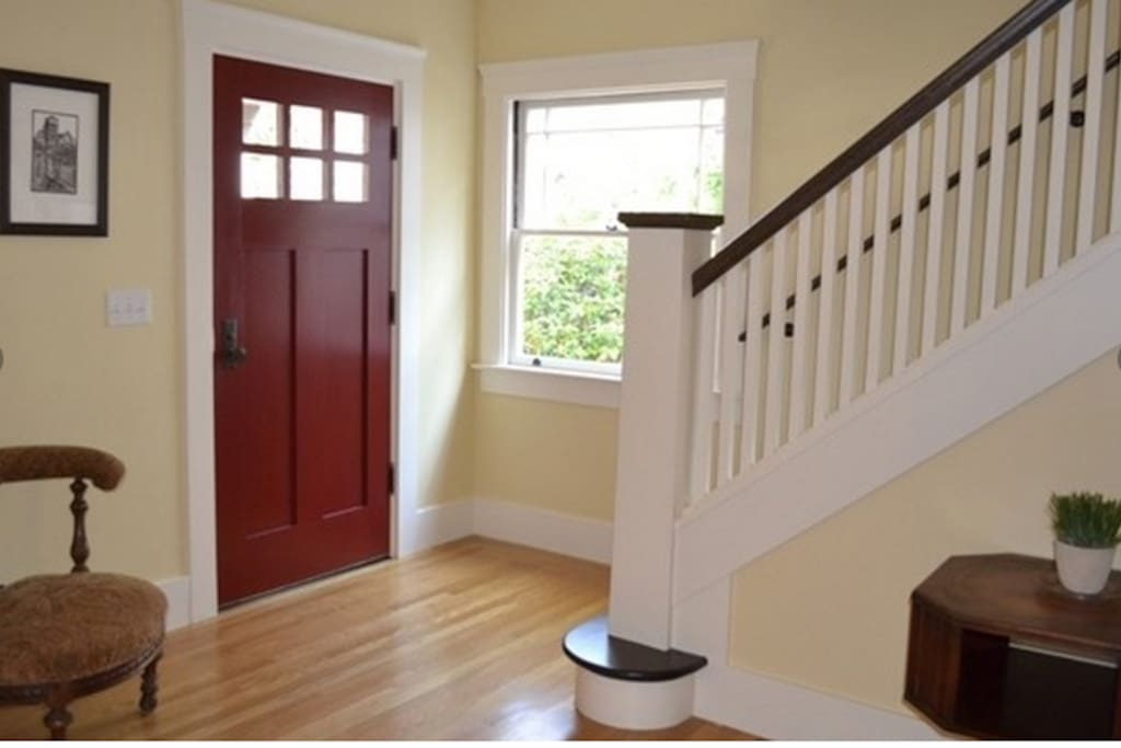 Classic craftsman-style foyer
