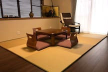 Japanese-style room.   Japanese style chair Capacity 2