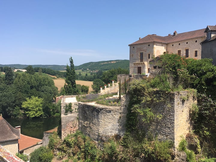 Amazing views over lovely medieval village