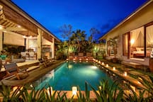 Chic Zen-inspired 2 BD private villa with big pool