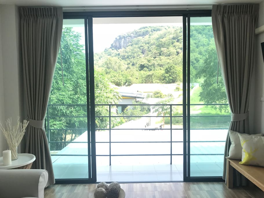 Fabulous mountain view from living room