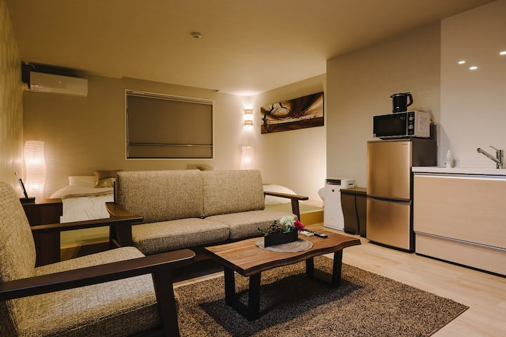 RAND BASE Karatsu Ekiminami -201- Accomodate 4 members, Free WiFi, kitchen