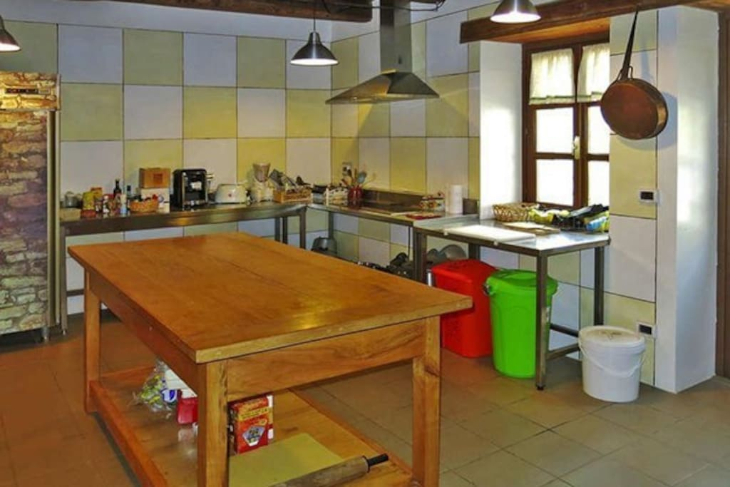 The large kitchen of the 180 sq.m. apartment