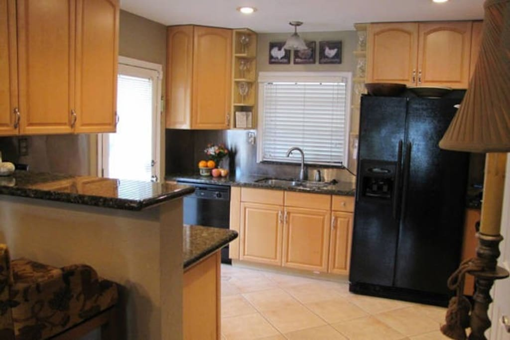Cook and eat in - this kitchen is fully equipped. Or go out for a meal - just a few minutes away.