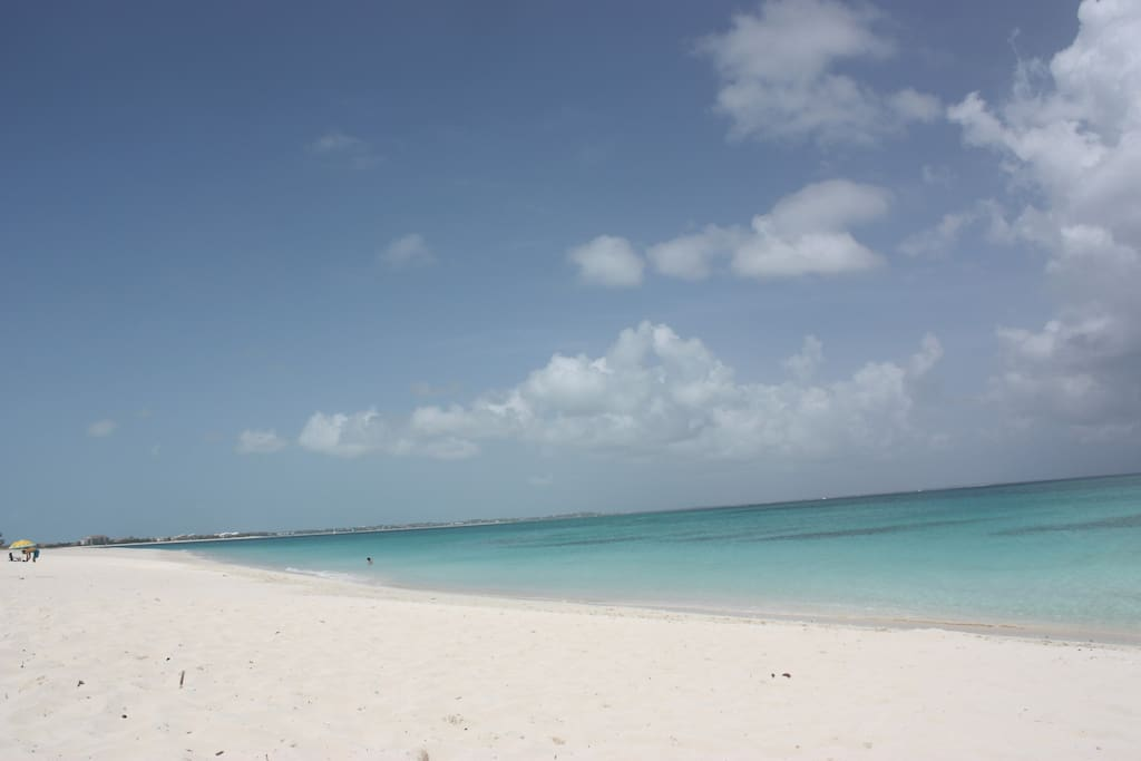 The most amazing white sand beach...Grace Bay!