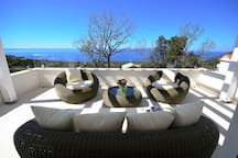 lounge with sea view
