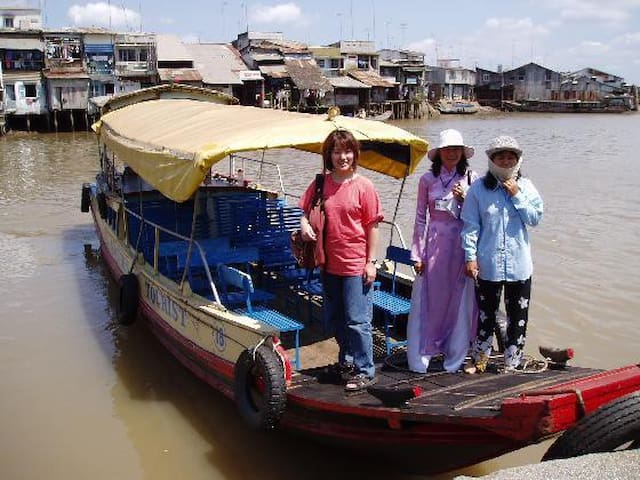Boat to Mekong delta