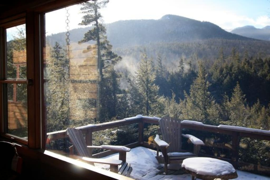 Mountain view trailhead cabin cabins for rent in keene for Keene valley cabin rentals