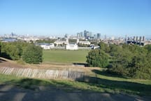 Your reward for cycling (or walking) up this hill to where the Royal Observatory and the Greenwich meridian are is this beautiful view over London