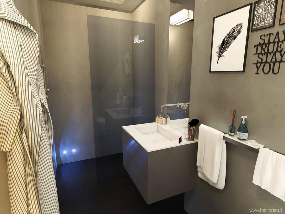 Il bagno high tech