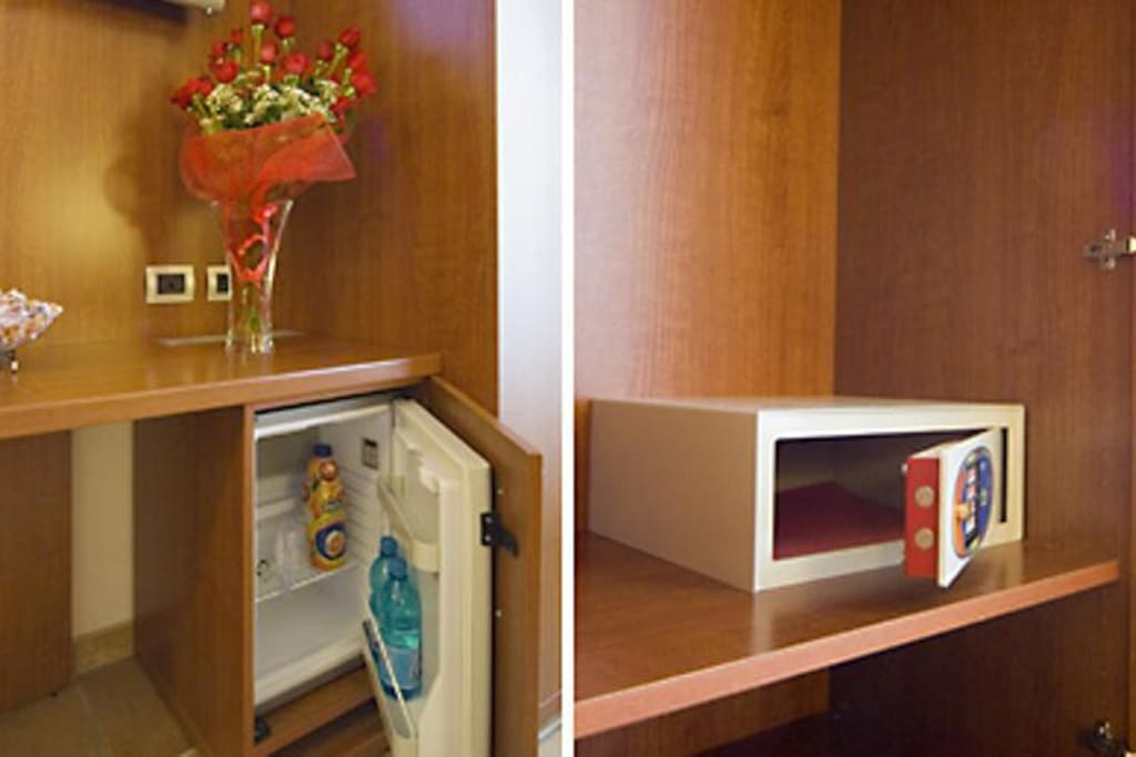 tv,minibar,cassaforte