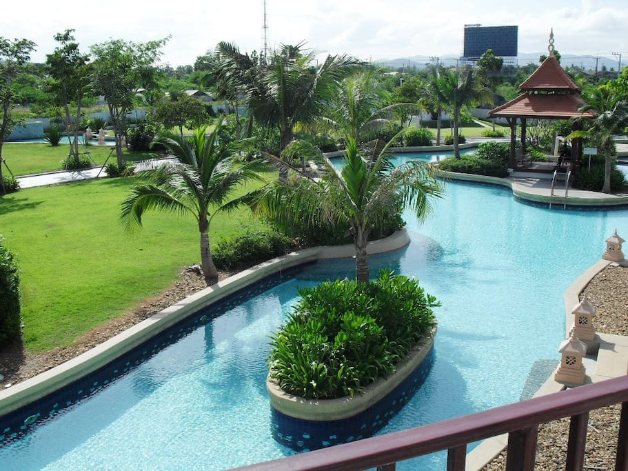Pool Villa View from Master Bedroom balcony