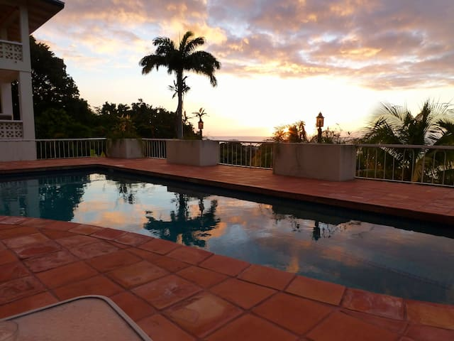 Sunset from the pool deck.
