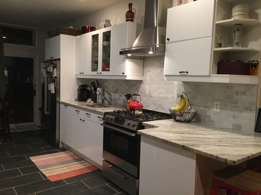 Kitchen, granite counter tops and new appliances