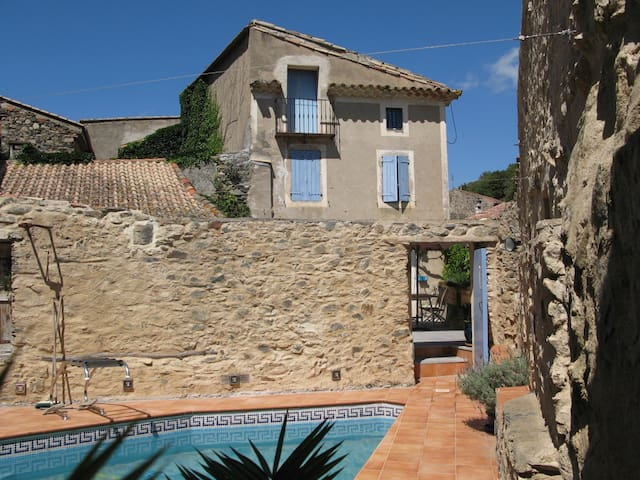 Maison Bouleau - stone house with private pool - Saint-Nazaire-de-Ladarez - Rumah