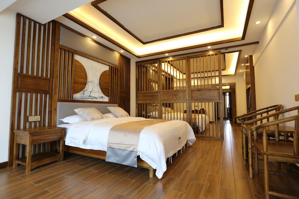 花好精品双人房 45平米。2米大床