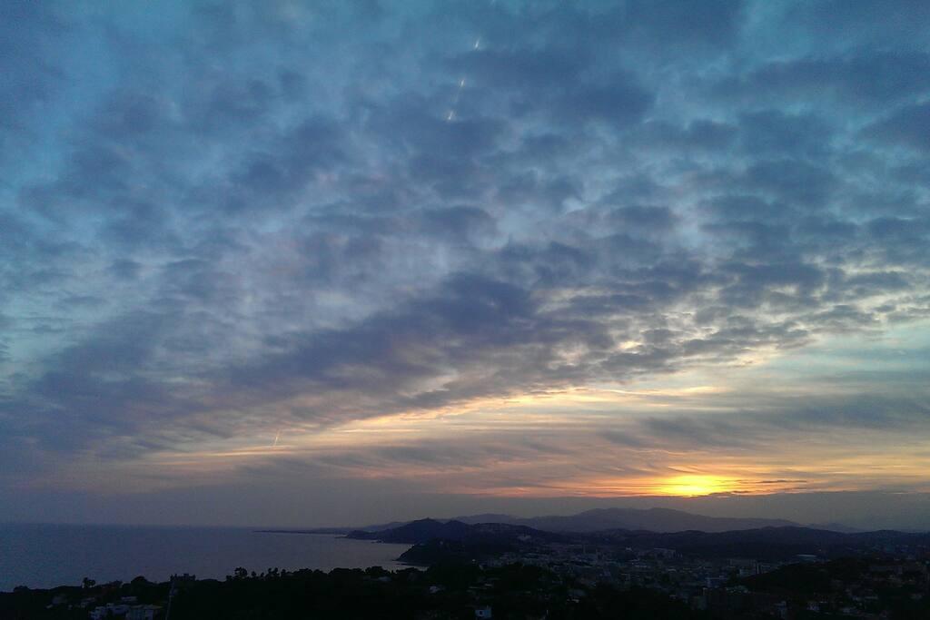 Beautiful evening sea view