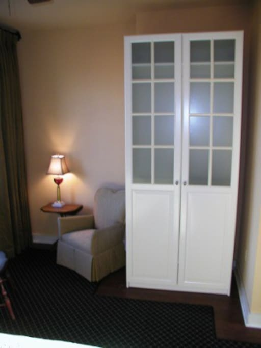 Seating Area and Wardrobe