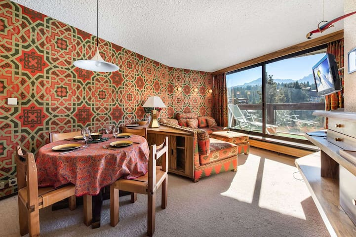 Jardin Alpin 406B: Ski-in Ski-out apartment for 3 guests