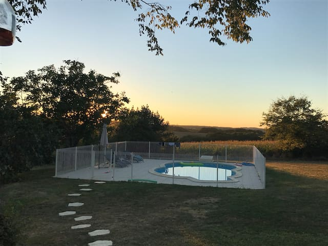 Characterful colombage farmhouse with pool