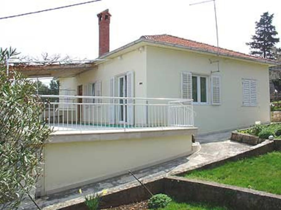 Spacious terrace and the private entrance to the apartment!