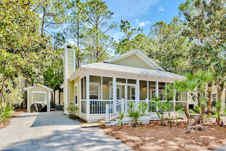 Grove by the Sea Cottage. Complete remodel in kitchen, living, and bathrooms.