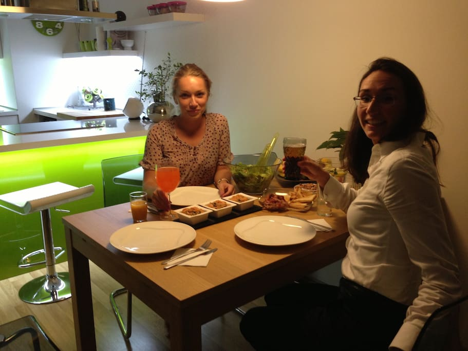 Dinner with guest