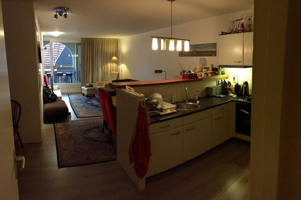 Shared living and kitchen with everything you wish for.