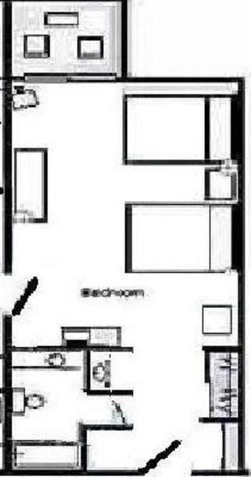 Hotel Room Floor Plan