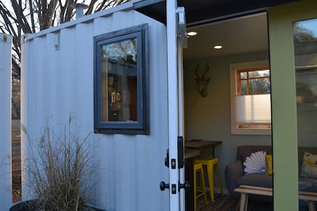 Shipping Container Studio: Green MODERN Design - Atlanta