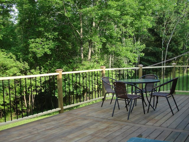 Back deck towards woods and creek
