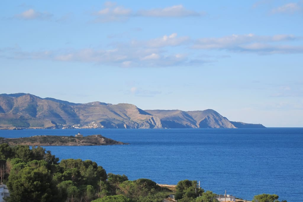 View of the coast up to Cape Cerbère from the house