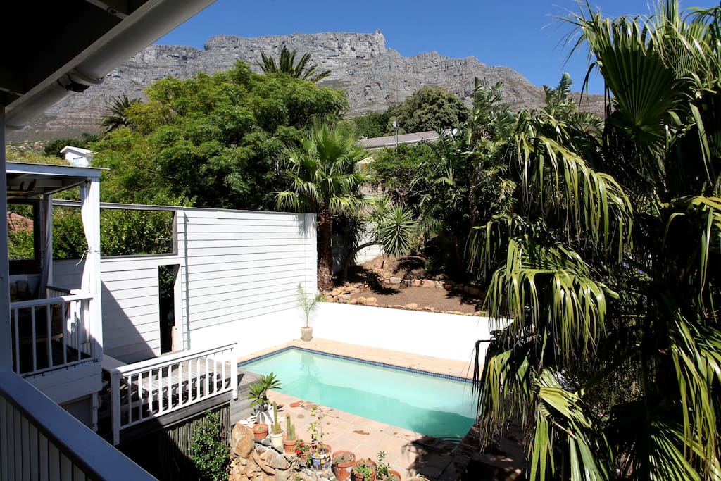 pool and table mountain views