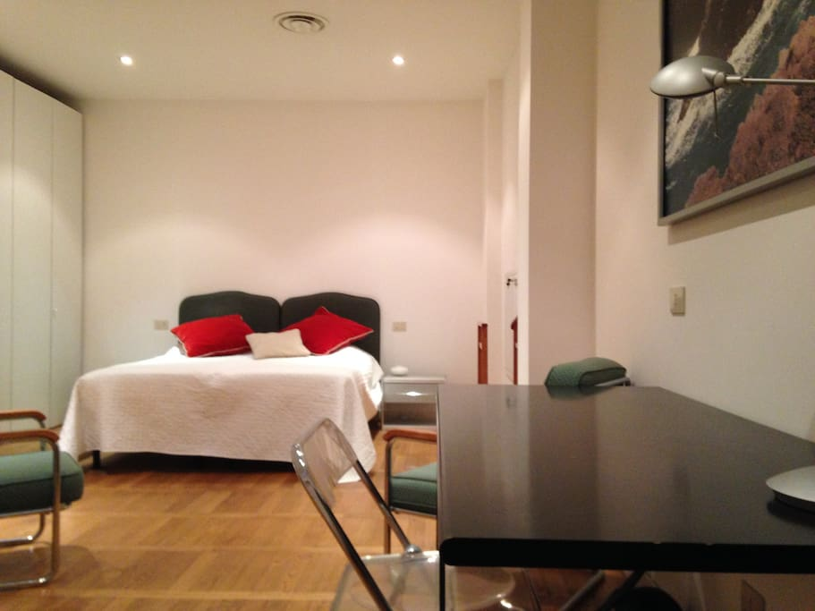 Bedroom & study area