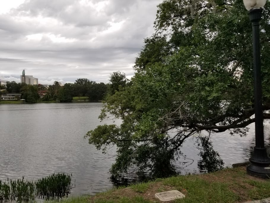 Unabated lake view from front of house