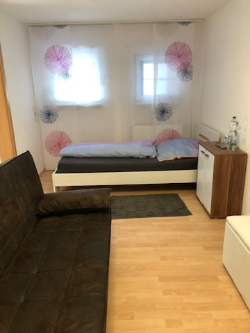 Private Room with 1 Bed and 1 Sofa Cum Bed