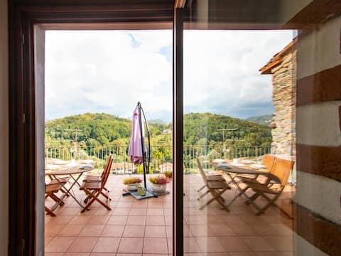 wunderbare Ferienwohnung Vista Alpi Apuane in der Nähe von 5 Terre