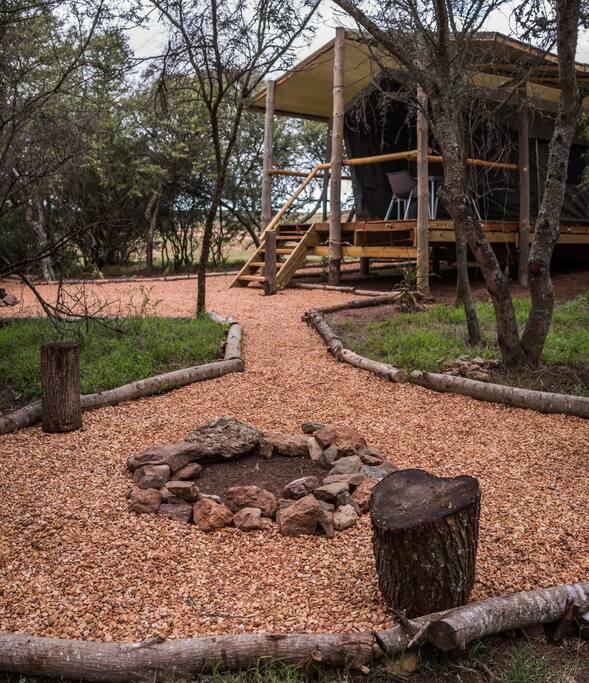 Fire place - Duiker Family Safari Tent
