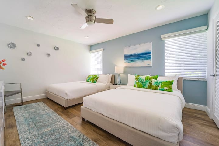 Spacious Suite Three Features Two (2) Queen Beds + Walk-In Closet + Samsung 4K Smart Streaming TV...