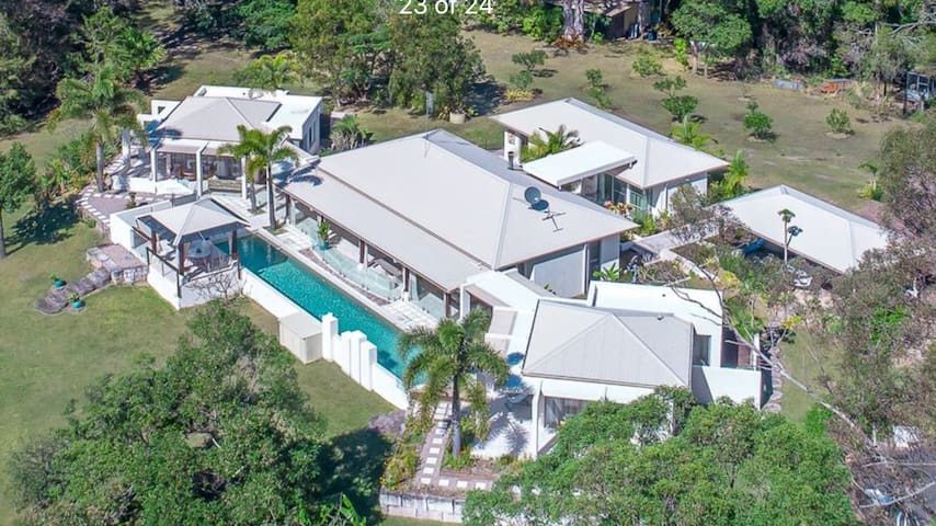 An aerial of your accommodation.