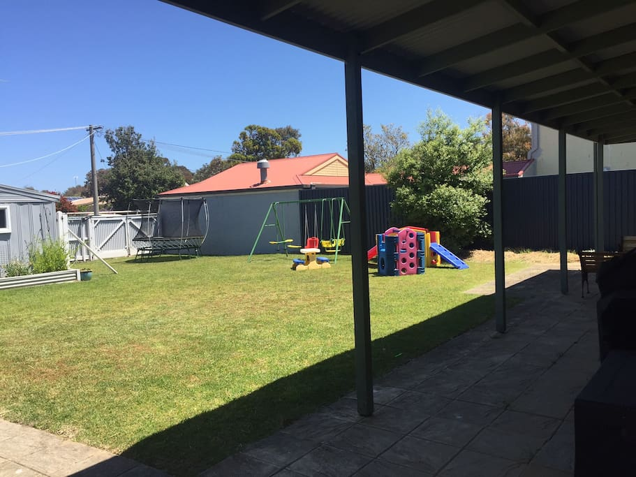 Back Yard and Double Gates