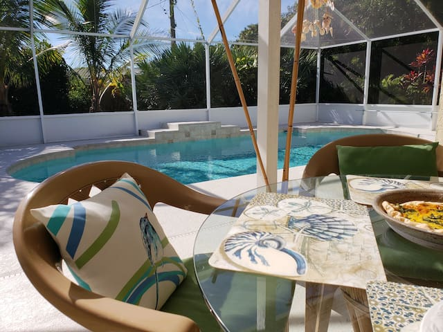 Very private pool and lanai