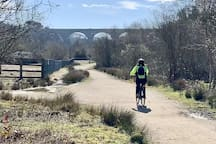 Fantastic old mineral line cycle track from coast to coast.