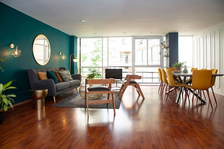 Green & Gold in the heart of Condesa, 3BR