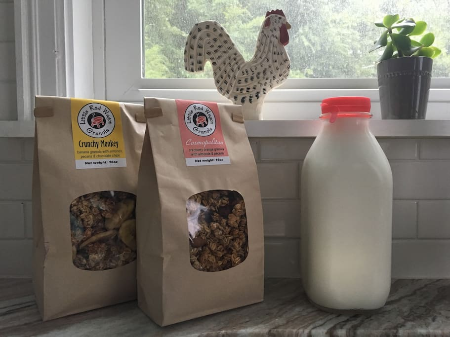Why not start the day with some locally made granola?